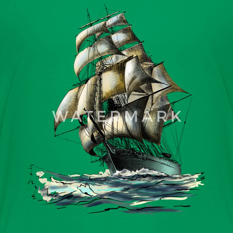 sailing ship T-shirts - Teenager premium T-shirt