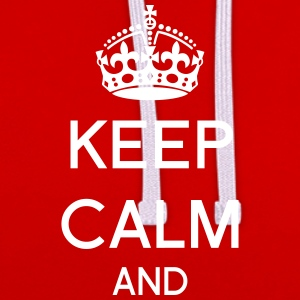 Hoodie Keep calm personnalisé - Sweat-shirt contraste