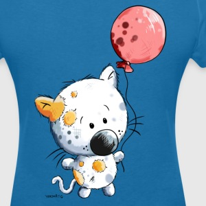 Cat with balloon T-Shirts - Women's V-Neck T-Shirt