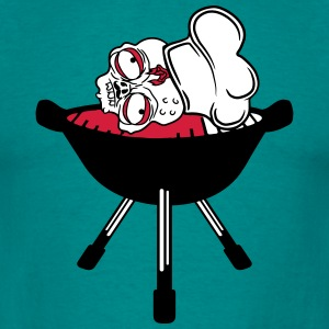 blood head zombie bbq food cook cooking chef, mast T-Shirts - Men's T-Shirt