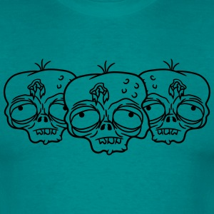 3 friends team pair party crew sad tired zombie fu T-Shirts - Men's T-Shirt