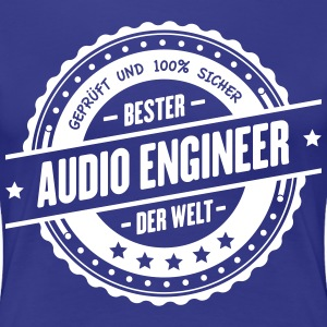 Bester Audio Engineer der Welt - Frauen Premium T-Shirt