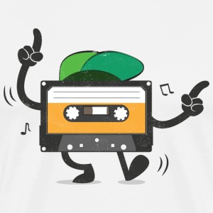Dancing Cassette Tape (Vintage Style) Tee shirts - T-shirt Premium Homme