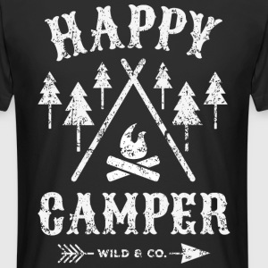 Happy Camper distressed T-Shirt - Männer Urban Longshirt