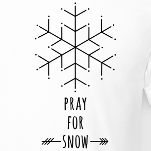 Pray for snow T-Shirt - Männer Urban Longshirt