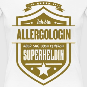 Superheldin Allergologin - Frauen Premium T-Shirt