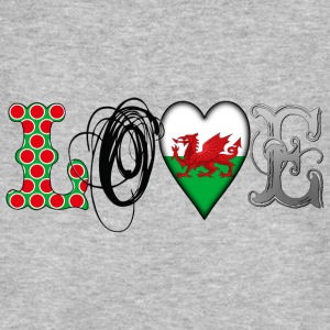 Love Wales Black T-Shirts - Men's Organic T-shirt