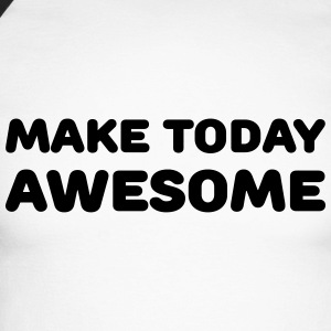 Make today awesome Skjorter med lange armer - Langermet baseball-skjorte for menn