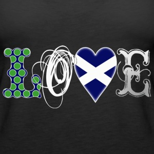 Love Scotland white Tops - Women's Premium Tank Top