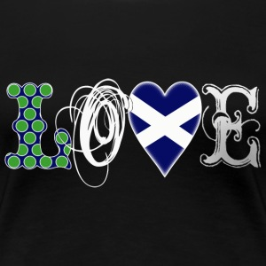 Love Scotland white T-Shirts - Frauen Premium T-Shirt