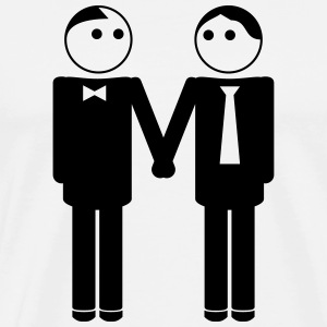 gay couple / gay couple hand in hand 1c Tee shirts - T-shirt Premium Homme