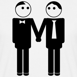 gay couple / gay couple hand in hand 1c T-Shirts - Männer T-Shirt
