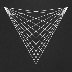 Sacred geometry / minimal hipster triangle symbol Tee shirts - T-shirt Homme col V