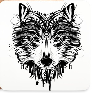 Wolf head Mugs & Drinkware - Coasters (set of 4)