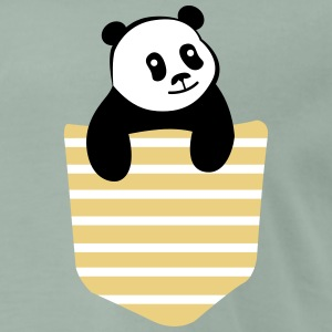 Panda Stripe Pocket T-shirts - Mannen Premium T-shirt