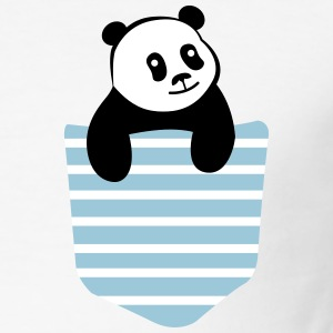 Panda Stripe Pocket T-shirts - Herre Slim Fit T-Shirt