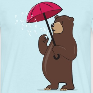 Bear With Dandelion And Umbrella T-Shirts - Men's T-Shirt