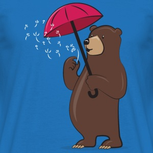 Bear With Dandelion And Umbrella Tee shirts - T-shirt Homme