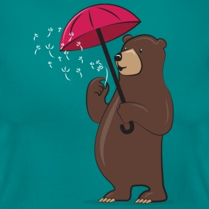 Bear With Dandelion And Umbrella Tee shirts - T-shirt Femme