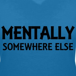 Mentally somewhere else T-shirts - T-shirt med v-ringning dam
