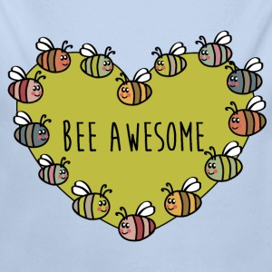 BEE AWESOME Baby Bodys - Baby Bio-Langarm-Body