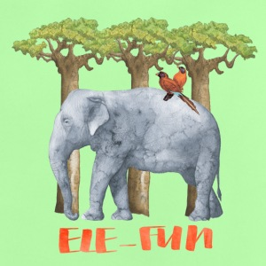 Ele-Fun Illustration und Typografie Elefant - Baby T-Shirt