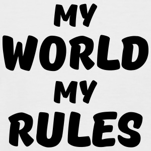 My world, my rules T-Shirts - Men's Baseball T-Shirt