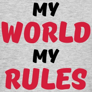 My world, my rules T-shirts - Herre-T-shirt