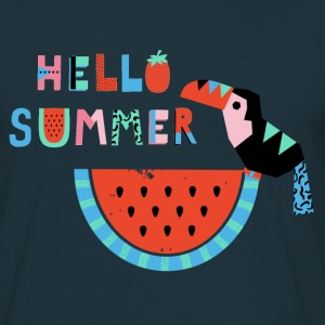 Hello Summer- Summer Illustration - Männer T-Shirt