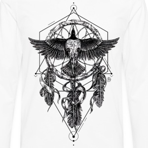 AD Skull Crow Dreamcatcher Mystic Long sleeve shirts - Men's Premium Longsleeve Shirt