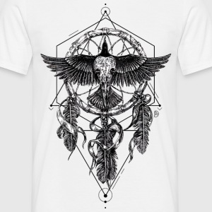 AD Skull Crow Dreamcatcher Mystic Tee shirts - T-shirt Homme