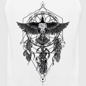 AD Skull Crow Dreamcatcher Mystic Sports wear - Men's Premium Tank Top