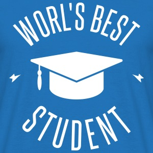 WORLD'S BEST STUDENT T-skjorter - T-skjorte for menn