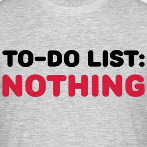 To-Do List: Nothing T-Shirts - Men's T-Shirt