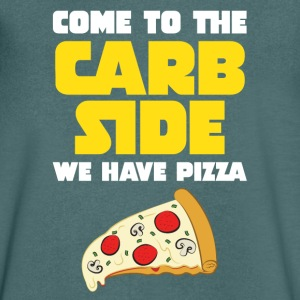 Come To The Carb Side - Wa Have Pizza T-shirts - T-shirt med v-ringning herr