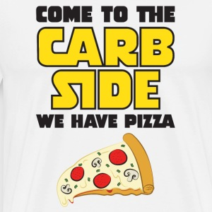 Come To The Carb Side - We Have Pizza T-shirts - Premium-T-shirt herr