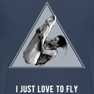 I just love to fly t shirt - Mannen Premium T-shirt