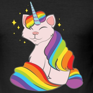 Caticorn T-shirts - Herre Slim Fit T-Shirt