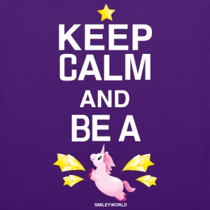 SmileyWorld Keep Calm and Be A Unicorn - Borsa di stoffa