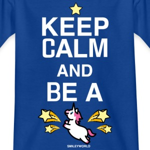 SmileyWorld Keep Calm and Be A Unicorn - T-skjorte for tenåringer