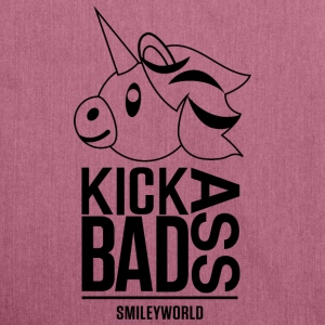 SmileyWorld Licorne Kick Bad Ass - Sac bandoulière 100 % recyclé