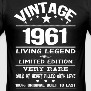 VINTAGE 1961-LIVING LEGEND T-Shirts - Men's Slim Fit T-Shirt