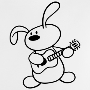A cute Bunny plays guitar Baby Shirts  - Baby T-Shirt