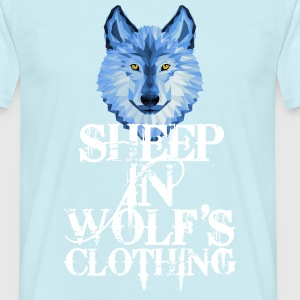 Sheep In Wolf's Clothing - white + Blue Wolf - Männer T-Shirt
