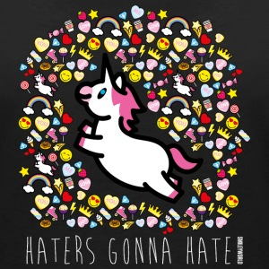 SmileyWorld Haters Gonna Hate - Dame-T-shirt med V-udskæring