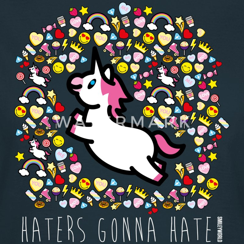 SmileyWorld Licorne Haters Gonna Hate - T-shirt Femme
