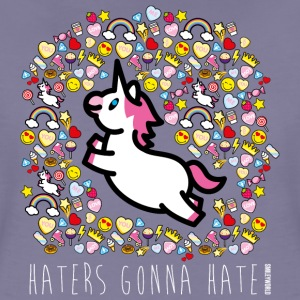 SmileyWorld Haters Gonna Hate - Women's Premium T-Shirt
