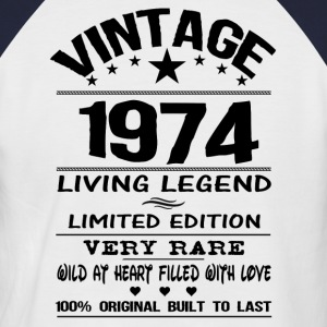 VINTAGE 1974-LIVING LEGEND T-Shirts - Men's Baseball T-Shirt