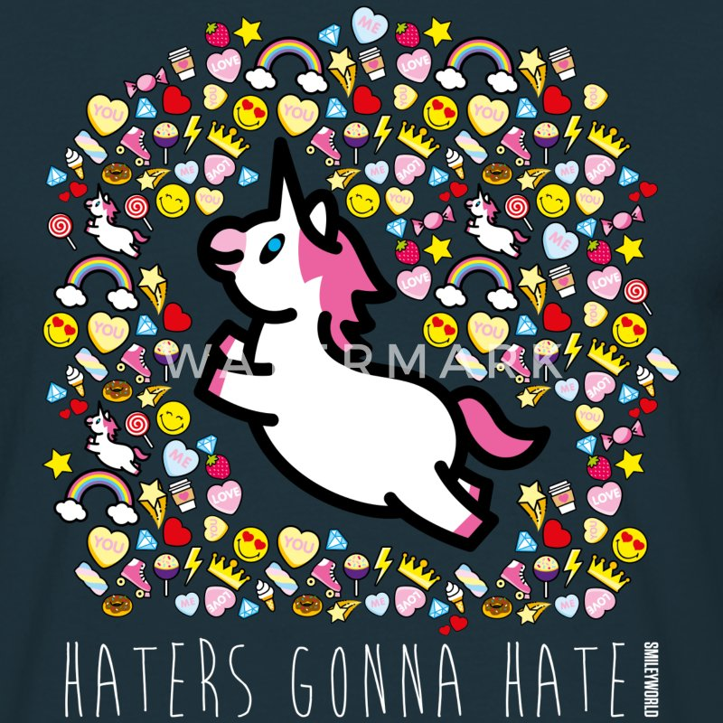 SmileyWorld Haters Gonna Hate - Herre-T-shirt