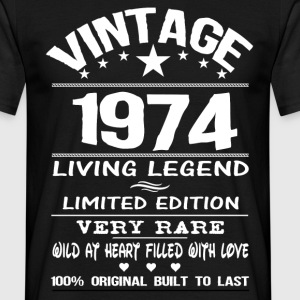 VINTAGE 1974-LIVING LEGEND T-Shirts - Men's T-Shirt